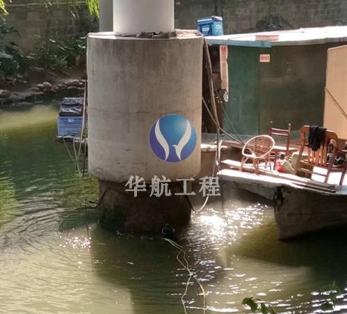 玻纤套筒水下加固安装施工